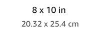 8x10in